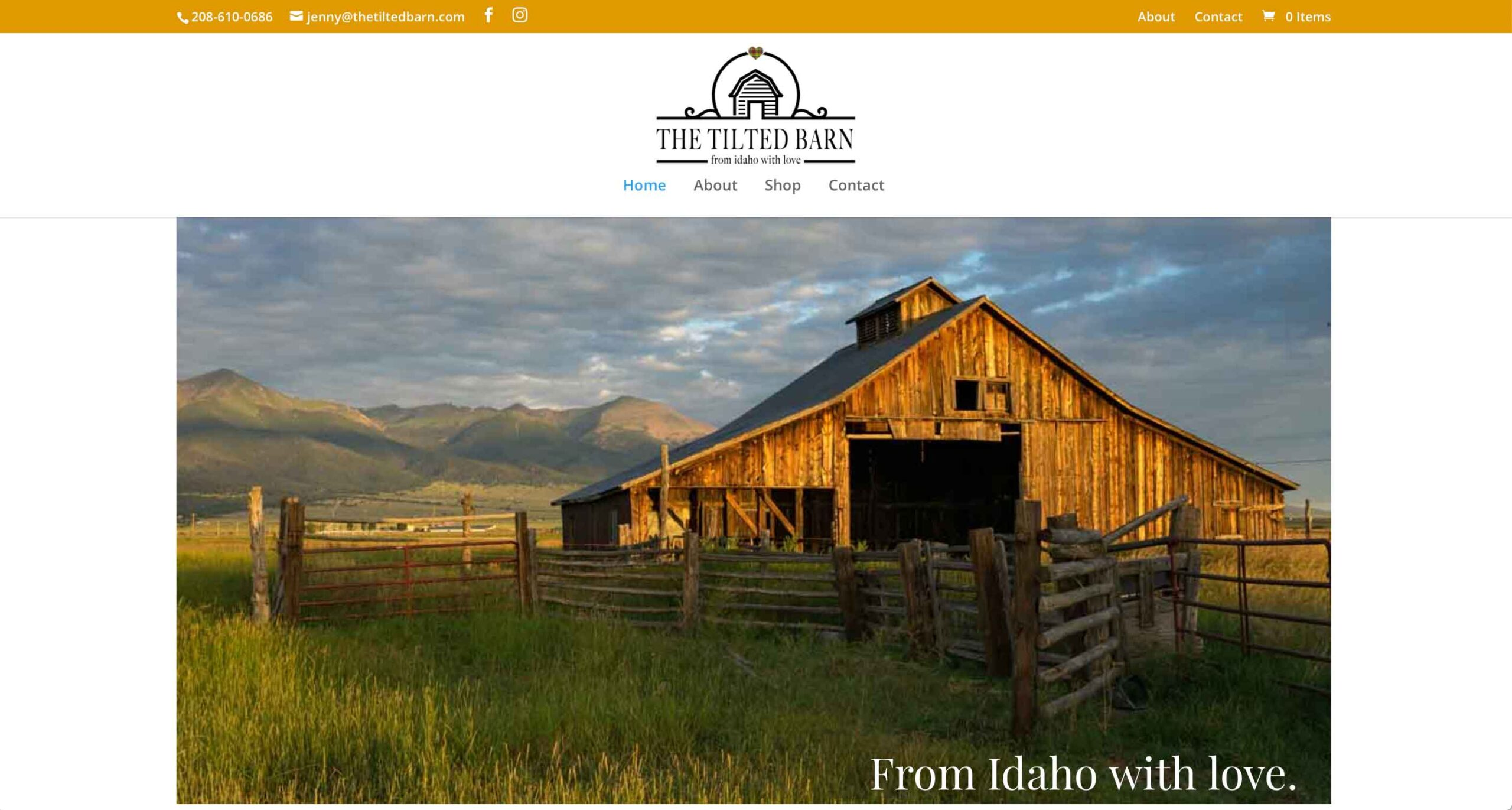 WebHappy Creative - The Tilted Barn Site
