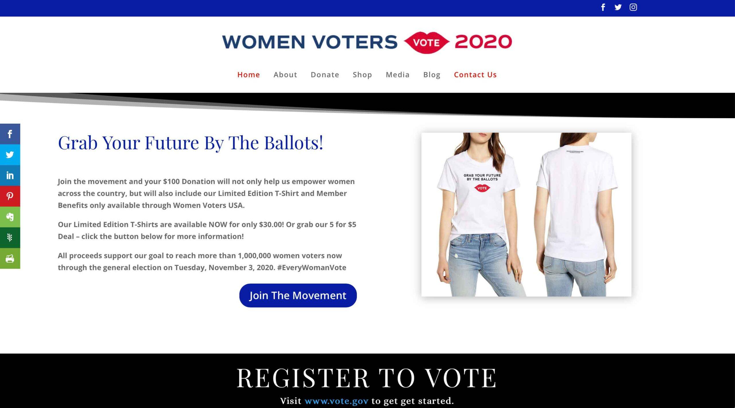 WebHappy Creative - Women Voters Site