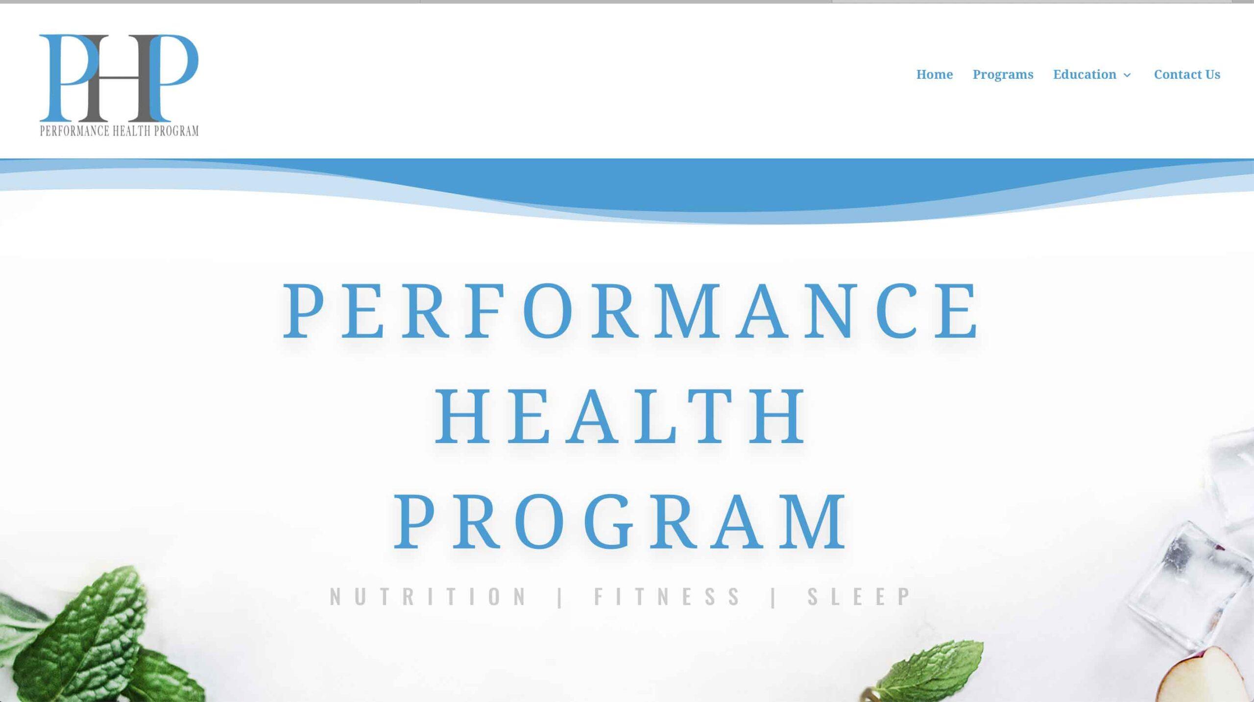 WebHappy Creative - Performance Health Program Site